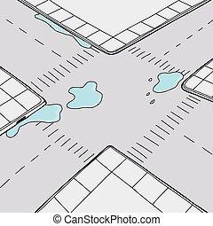 Water on Street