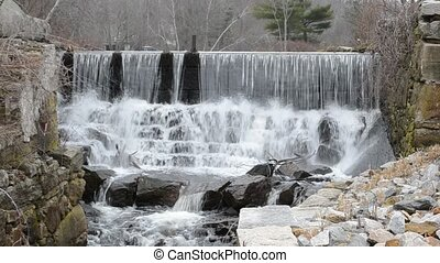 Water Over The Dam - Spillway and sluice are all that remain...