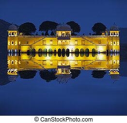 Water Palace at night - Jal Mahal Rajasthan, Jaipur, India