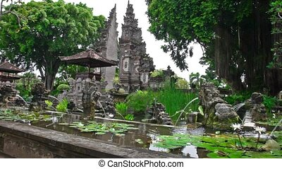 Water Palace. Bali island. Indonesia - Tirtagangga water ...
