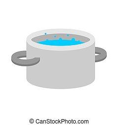 Water pan isolated. Kitchen Utensils Vector Illustration