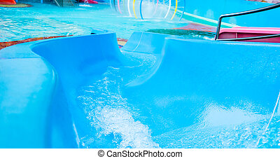 Water park Slide pipe with fast water flowing