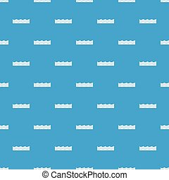 Water pattern seamless blue