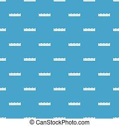 Water pattern seamless blue