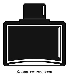 Water perfume icon, simple style