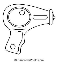 water, pictogram, stijl, pistool, schets