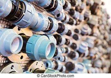 Water pipe fittings and fixturing components