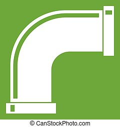 Water pipe icon green