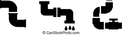 water pipe icon isolated on white background