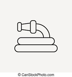 Water pipe line icon