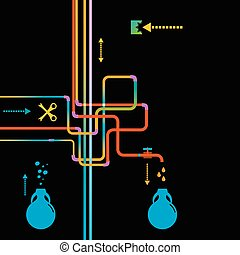 Water Pipe Vector illustration