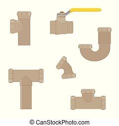 Water pipe vector