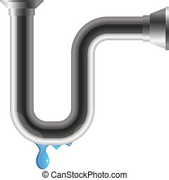 Water pipe with leakage
