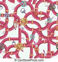 Water Pipeline Seamless Pattern