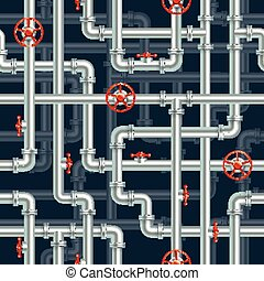 Water pipeline seamless pattern