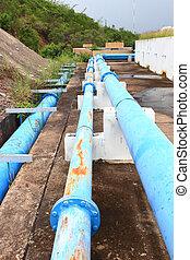 Water pipeline transporting   - Water pipeline transporting