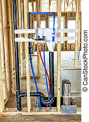 Water pipes for a washer and dryer in new construction - New...