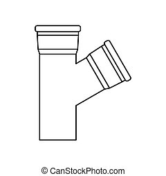 Water pipes icon, outline style