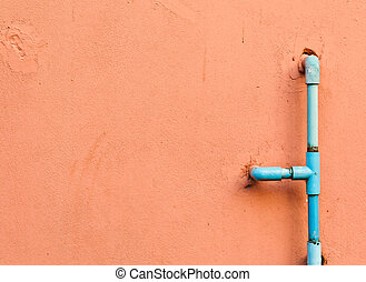 Water pipes on the wall