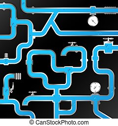 Water pipes service