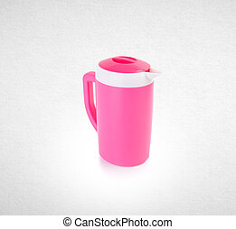 water pitcher or plastic pitcher on a background.