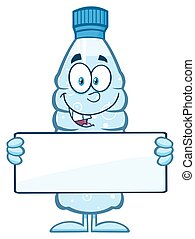 Water Plastic Bottle Character - Water Plastic Bottle...