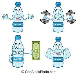 Water Plastic Bottle Collection - 4 - Water Plastic Bottle...