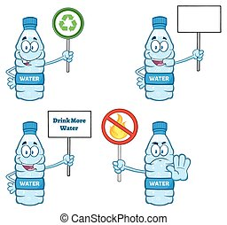 Water Plastic Bottle Collection - 5