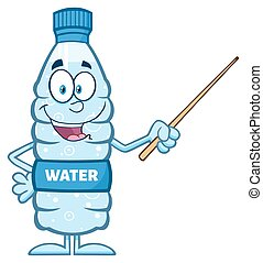 Water Plastic Bottle Illustration - Talking Water Plastic...