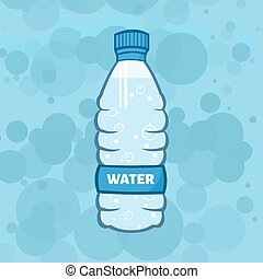 Water Plastic Bottle Illustration