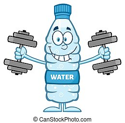 Water Plastic Bottle With Dumbbells