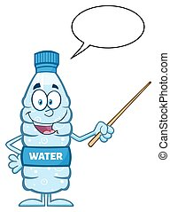 Water Plastic Bottle With Pointer