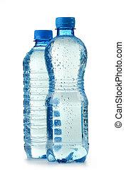 water, plastice fles, achtergrond, vrijstaand, polycarbonate, mineraal, witte