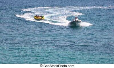 Water play, Baska sea, Krk island in Dalmatia - Croatia