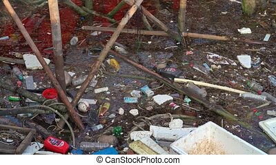 water pollution, empty plastic bottles - Environmental ...
