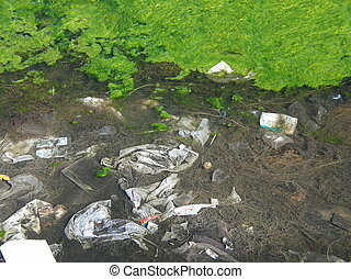 water pollution - garbage in the water