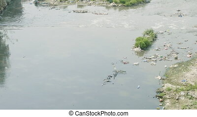 Water pollution of Bagmati River in Kathmandu, Nepal