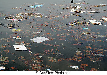 Water Pollution with Garbage and Toxic Material