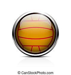 Water polo ball icon