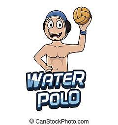 water-polo, conception, illustration, logo