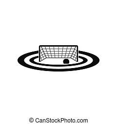 Water polo gates black simple icon