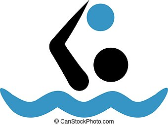 Water polo icon in two colors