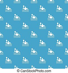 Water polo pattern seamless blue
