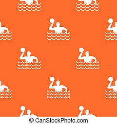 Water polo pattern seamless