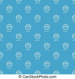 Water polo pattern vector seamless blue