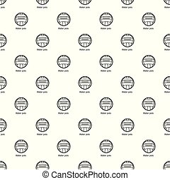 Water polo pattern vector seamless