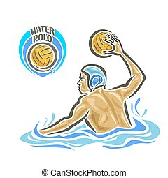 Water Polo player - Vector abstract logo for Water Polo,...