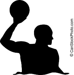Water polo player silhouette