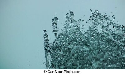 Water Pool Splash in Fountain