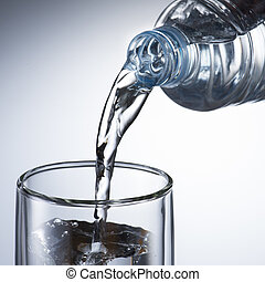 Water Pour from Water Bottle